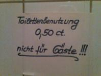Toilettenbenutzung